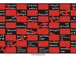 Phrasal Verbs #1 Checker Board Game