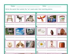 Phonics Vowel Team AU Photo Worksheet