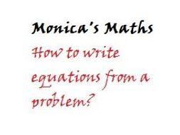Self Assessment_Writing Equations