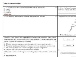 Edexcel CB4 Biology Knowledge Assessment