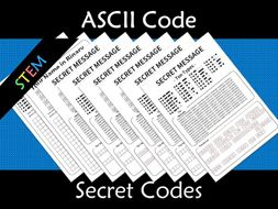 ASCII Code to Binary Secret Codes