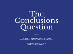 Higher Modern Studies Conclusions Source Question