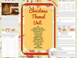A Mini Christmas Unit Of Activities Worksheets Writing Poetry