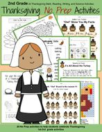 2nd Grade Thanksgiving Math and Reading Activities