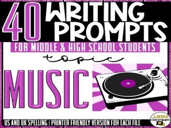 Daily Writing Prompts | Music | Middle and High School