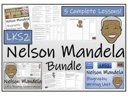 LKS2 History - Nelson Mandela Reading Comprehension & Biography Bundle