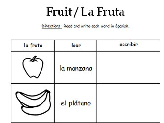 Spanish Fruit - La Fruta