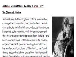 GCSE English Language Paper 2 - 19th Century Non-Fiction Unseen Analysis - The Diamond Jubilee