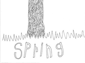 Spring: Seasons: Colouring Page