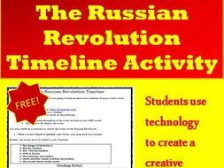 Russian Revolution Interactive Timeline Project  (World History) FREE!