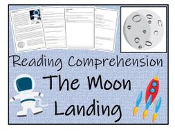 UKS2 History - The Moon Landing Reading Comprehension Activity