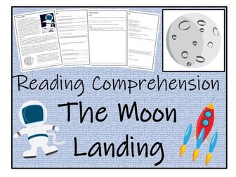 UKS2 History - The Moon Landing - Reading Comprehension Activity