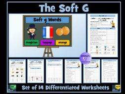 Soft G Sounds and Words Worksheets