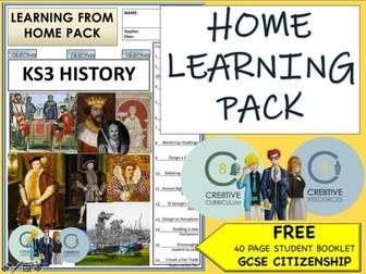 Home Learning Pack HISTORY KS3