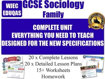 Sociology of the Family (20 Lessons) WJEC / EDUQAS [ GCSE Sociology ] Families