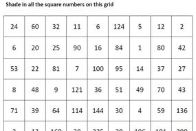 recognising square numbers puzzle by ingridu teaching resources tes