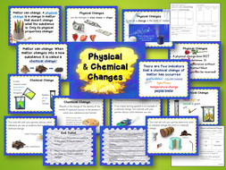 Chemical and Physical Changes of Matter Presentation and Student Interactive Notebook Lesson