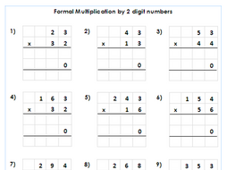 year   formal multiplication by  digit numbers  differentiated  year   formal multiplication by  digit numbers  differentiated  worksheets