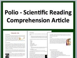 Poliomyelitis (Polio) Comprehension Reading KS3 and KS4