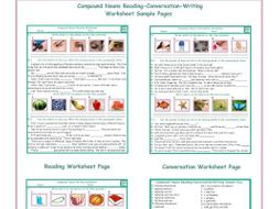 Compound Nouns Reading-Conversation-Writing Worksheets-ESL Fun Class! Try out our Compound Nouns Rea