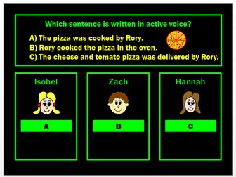 Active and Passive Voice PPT Powerpoint Game by Grammatickx