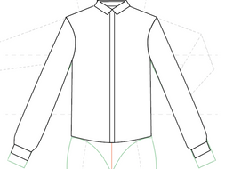 How to create fashion flats - Shirt + placket and cuffs