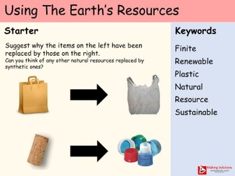 AQA Chapter 10 - Lesson 1 - Using the Earth's Resources