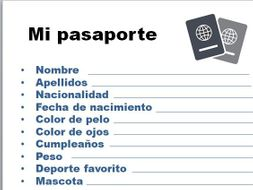 Spanish - Pasaporte, passport (personal information)