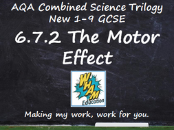 AQA Combined Science Trilogy: 6.7.2 The Motor Effect