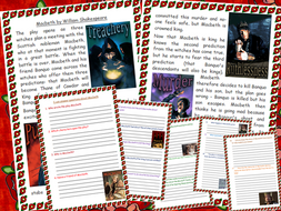 KS2 Macbeth  Comprehension Shakespeare Tudors Summary