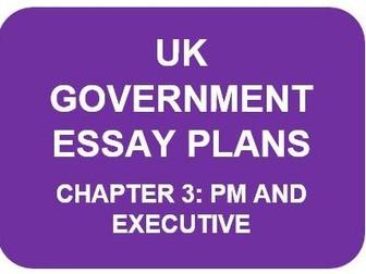 A LEVEL POLITICS ESSAY PLANS: UK GOVERNMENT CHAPTER 3