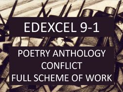 edexcel conflict poetry anthology full scheme by missboutrif teaching resources. Black Bedroom Furniture Sets. Home Design Ideas