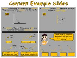year 4 angles animated powerpoint presentation and worksheets by
