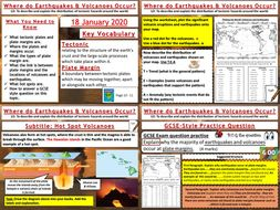Tectonic Hazards: The Distribution of Earthquakes and Volcanoes