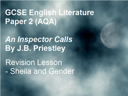 An Inspector Calls - Revision - Sheila and Gender