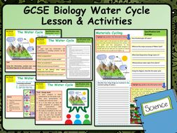 KS4 AQA GCSE Biology (Science) Water Cycle Lesson & Activities