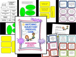 A Matching Subject and Predicate Game and Activity