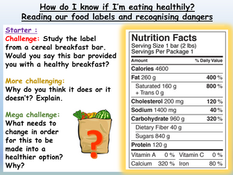 Healthy Living / Healthy Eating / Diet Unit (5 lessons)