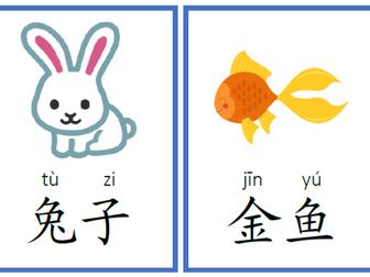 Animals Flashcard _Flashcards in Mandarin Chinese