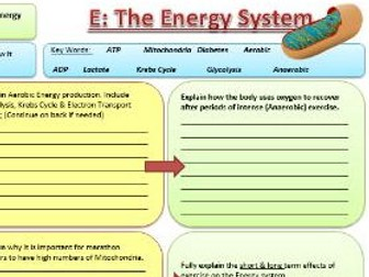 Btec Sport 2016 - NEW SPEC - Unit 1 - Section E - Energy Systems