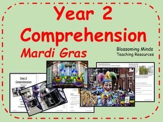 Year 2 SATs style comprehension - Mardi Gras