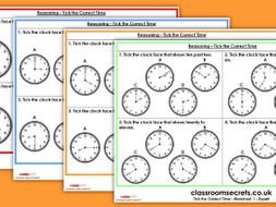 Tick the Correct Time KS1 SATs Reasoning Test Practice