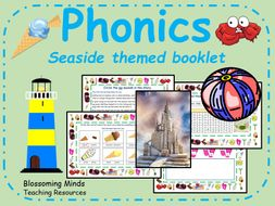 Phonics phase 5 booklet (20 pages) - Seaside theme