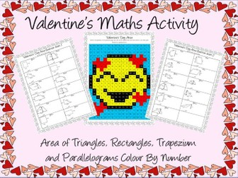 Valentine's Day maths area activity