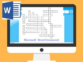 MS Word Crossword Puzzle and Screen Elements Task