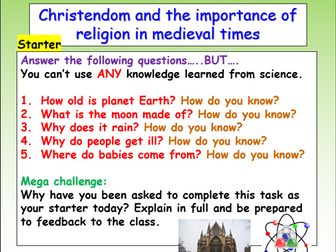 Medieval History: Religion