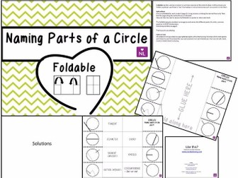 Parts of a Circle (Foldable)