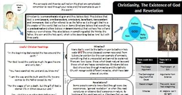 AQA New Spec: Christianity, the Existence of God, Miracles and Revelations Knowledge Organiser.