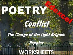 edexcel conflict poetry comparing the charge of the light brigade and poppies worksheets. Black Bedroom Furniture Sets. Home Design Ideas
