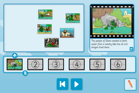 St George and the Dragon Sequence and Retell Interactive Activity - KS1 Literacy